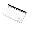 Compact Desk Pad, 17 3/4 x 10 7/8, White, 2018