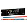 Prismacolor® Verithin Double-Ended Colored Pencils, Blue/Red, Dozen SAN02456