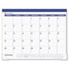 AT-A-GLANCE® Fashion Color Desk Pad, 22 x 17, Blue, 2017 AAGSK2517