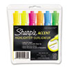 Sharpie® Accent Tank Style Highlighter, Chisel Tip, Assorted Colors, 6/Set SAN25076