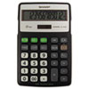 EL-R287BBK Recycled Series Calculator w/Kickstand, 12-Digit LCD