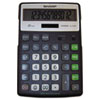 EL-R297BBK Recycled Series Calculator w/Kickstand, 12-Digit LCD