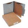 20 pt. PRESSTEX Classification Folders, 1 Divider, Letter Size, Gray, 10/Box