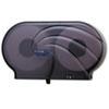 """San Jamar® Twin 9"""" JBT Toilet Tissue Dispenser, Oceans, 19 x 5 1/4 x 12, Black Pearl SJMR4090TBK"""
