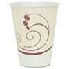 Symphony Design Trophy Foam Hot/Cold Drink Cups, 12 oz, Beige, 100/Pack