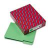 Smead® Interior File Folders, 1/3 Cut Top Tab, Letter, Green, 100/Box SMD10247