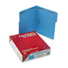 Smead® Folders, Two Fasteners, 1/3 Cut Assorted Top Tab, Letter, Blue, 50/Box SMD12040