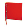 "ACCO ACCOHIDE Poly Round Ring Binder, 35-pt. Cover, 1"" Cap, Executive Red ACC39719"