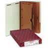 Smead® Pressboard End Tab Classification Folder, Pockets, Legal, Six-Section, 10/Box SMD29710