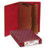 Smead® Pressboard End Tab Folders, Legal, Six-Section, Bright Red, 10/Box SMD29783