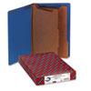Smead® Pressboard End Tab Classification Folders, Legal, Six-Section, Dark Blue, 10/Box SMD29784