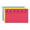Smead® Tuff Hanging Folder with Easy Slide Tab, Legal, Assorted,15/Box SMD64140
