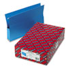 """Smead® 2"""" Capacity Closed Side Flexible Hanging File Pockets, Legal, Sky Blue, 25/Box SMD64350"""