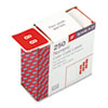 Smead® Single Digit End Tab Labels, Number 8, Red, 250/Roll SMD67428