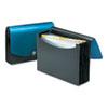 Smead® Expanding File, 12 Pockets, Poly, Letter, Black/Blue SMD70863
