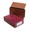 """Smead® 5 1/4"""" Exp End Tab Wallets, Straight Tab, Legal, Redrope, 10/Box SMD71148"""