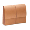 """Smead® TUFF Water-Resistant 5 1/4"""" Expanding Wallet, Redrope/Manila, Letter SMD71164"""