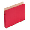 "Smead® 1 3/4"" Exp Colored File Pocket, Straight Tab, Letter, Red SMD73221"