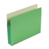 """Smead® 3 1/2"""" Exp Colored File Pocket, Straight Tab, Letter, Green SMD73226"""