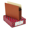 "Smead® 5 1/4"" Exp Pocket, Straight Tab, Letter, Manila/Redrope, 10/Box SMD73234"