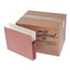 "Smead® 5 1/4"" Exp File Pocket, Straight Tab, Letter, Manila/Redrope, 50/Bx SMD73810"