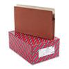 "Smead® 3 1/2"" Exp Drop Front Pocket, Legal, Manila/Redrope, 25/Box SMD74224"