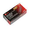 ACCO Premium Paper Clips, Nonskid, Jumbo, Silver, 100/Box, 10 Boxes/Pack ACC72510
