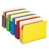 "Smead® 3 1/2"" Exp Colored File Pocket, Straight Tab, Legal, Asst, 5/Pack SMD74892"