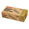 ACCO Recycled Paper Clips, Smooth, Jumbo, 100/Box, 10 Boxes/Pack ACC72525