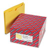 Smead® Colored File Jackets with Reinforced Double-Ply Tab, Letter, Yellow, 50/Box SMD75571