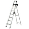 Cosco Products Signature Series Aluminum Folding Step Ladder w/Leg Lock & Handle, 8 ft, 6-Step CSC2081AABLD