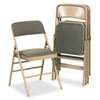Cosco Products Deluxe Fabric Padded Seat & Back Folding Chairs, Cavallaro Taupe, 4/Carton CSC36885CVT4