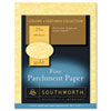 PARCHMENT SPECIALTY PAPER, 24 LB, 8.5 X 11, GOLD, 100/PACK