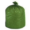 Stout® Eco-Degradable Plastic Trash Garbage Bag, 33gal, 1.1mil, 33 x 40, Green, 40/Box STOG3340E11