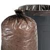 Stout® 100% Recycled Plastic Garbage Bags, 56gal, 1.5mil, 43 x 49, Brown/Black, 100/CT STOT4349B15