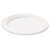 NatureHouse® Compostable Sugarcane Bagasse 6 in Plate, Round, White, 50/Pack SVAP001