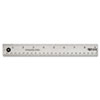 Stainless Steel Office Ruler With Non Slip Cork Base, 18""
