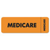 Tabbies® Medical Labels for Medicare, 1 x 3, Fluorescent Orange, 250/Roll TAB03080