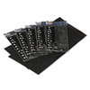 <strong>Tablemate®</strong><br />Table Set Rectangular Table Covers, Heavyweight Plastic, 54 x 108, Black, 6/Pack