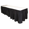 "<strong>Tablemate®</strong><br />Table Set Linen-Like Table Skirting, 29"" x 14ft, Black"
