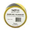 Tatco Hazard Marking Aisle Tape, 2w x 108ft Roll TCO14711