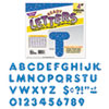 "Ready Letters Sparkles Letter Set, Blue Sparkle, 4""h, 71/Set"
