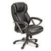 Mayline® Leather Seating Series High-Back Swivel/Tilt Chair, Black Leather MLNUL350HBLK