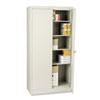 "<strong>Tennsco</strong><br />72"" High Standard Cabinet (Unassembled), 36 x 18 x 72, Light Gray"