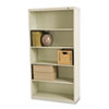 Metal Bookcase, Five-Shelf, 34-1/2w x 13-1/2d x 66h, Putty