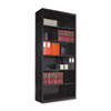 <strong>Tennsco</strong><br />Metal Bookcase, Six-Shelf, 34-1/2w x 13-1/2d x 78h, Black