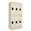 Double Tier Locker, Triple Stack, 36w x 18d x 72h, Sand