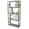 Tennsco Commercial Steel Shelving, Five-Shelf, 36w x 12d x 75h, Medium Gray TNNESP1236MGY
