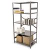 Tennsco Commercial Steel Shelving, Five-Shelf, 36w x 24d x 75h, Medium Gray TNNESP2436MGY