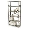 Tennsco Commercial Steel Shelving, Six-Shelf, 36w x 12d x 75h, Medium Gray TNNESP61236MGY